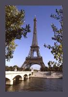 Eiffel Tower Paris France with border
