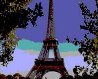 Eiffel Tower Paris France Close-up Architecture en