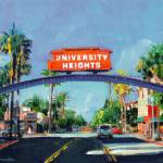 """University Heights Sign San Diego"" by BeaconArtWorksCorporation"