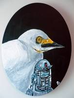 Snowy Egret with Star Wars Memorabilia
