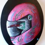 """Hummingbird in Motorcycle Helmet"" by Polylerus"