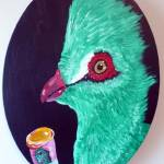 """Guinea Turaco with Medical Marijuana"" by Polylerus"