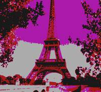 Eiffel Tower Paris France Enhanced Close-up 2