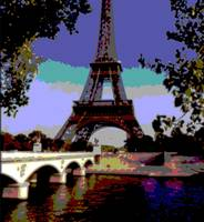 Eiffel Tower Paris France Enhanced Close-up 4