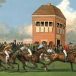 """Early Thoroughbred Horse Race"" by jacksby"