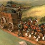 """Clydesdales Pulling Coal"" by jacksby"