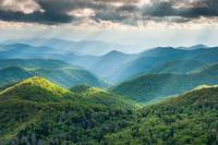 Blue Ridge Mountain Lush Summer Landscape