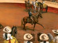 Azteca Horse at the Charreada