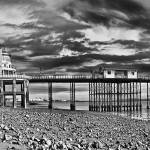 """Penarth Pier Panorama Monochrome"" by StevePurnell"