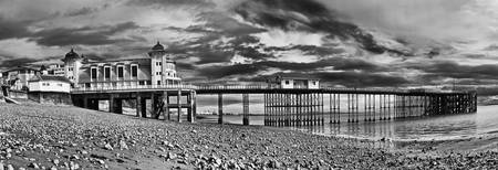 Penarth Pier Panorama Monochrome
