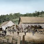 """Los Gatos, California toll road operation c1870"" by worldwidearchive"