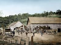 Los Gatos, California toll road operation c1870 by WorldWide Archive