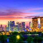 """Cityscape Singapore, evening hours."" by sghomedeco"