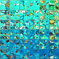 Tile Art #8, 2013. Modern Mosaic Tile Art Painting