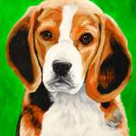 """Beagle Puppy"" by Rmbartstudio"