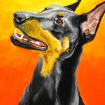 """Doberman Pincer"" by Rmbartstudio"