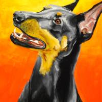 Doberman Pincer Art Prints & Posters by Rebecca Blaser