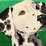 """Dalmatian On Green"" by Rmbartstudio"