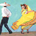 """Old Town Fiesta De Reyes stage Dancers"" by BeaconArtWorksCorporation"