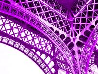 Eiffel Tower Arch Support Detail Violet