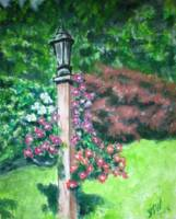 Petunias on Lamp Post