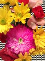 Chevron Floral photo/art by Lisa Casineau