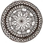 """Domino Mandala"" by Heartworks"