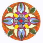 """Autumn Floral Mandala"" by Heartworks"