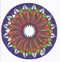 Purple Autumn Mandala