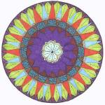 """March Flower Mandala"" by Heartworks"