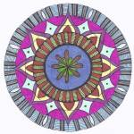 """Abstract Floral Center Mandala"" by Heartworks"