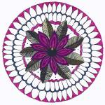 """Magenta Flower Mandala"" by Heartworks"