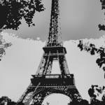 """Eiffel Tower Enhanced B&W cropped X 2"" by TheNorthernTerritory"