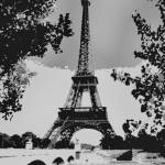 """Eiffel Tower Abstract Decorative Enhanced B&W"" by TheNorthernTerritory"