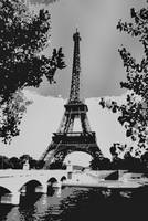 Eiffel Tower Abstract Decorative Enhanced B&W