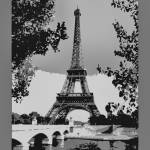 """Eiffel Tower Seine River Enhanced border B&W"" by TheNorthernTerritory"