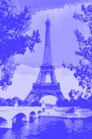 Eiffel Tower Seine River Enhanced Indigo