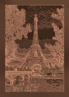 Abstract Decorative Eiffel Tower Seine River Choco