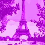 """Eiffel Tower Violet Indigo"" by TheNorthernTerritory"