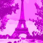 """Eiffel Tower Seine River bridge Enhanced Violet pi"" by TheNorthernTerritory"