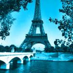 """Eiffel Tower Seine River Blue cropped"" by TheNorthernTerritory"