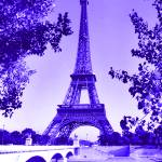 """Eiffel Tower Seine River Indigo"" by TheNorthernTerritory"