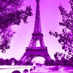 """Eiffel Tower Seine River Violet"" by TheNorthernTerritory"