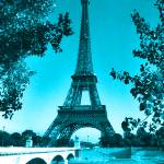 """Eiffel Tower Seine River Blue"" by TheNorthernTerritory"