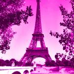 """Eiffel Tower Seine River Enhanced Pink"" by TheNorthernTerritory"