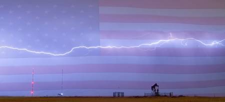 Long Lightning Bolt American Oil Well Country Sky