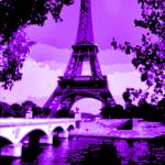 """Eiffel Tower Seine River Enhanced Violet Cropped"" by TheNorthernTerritory"
