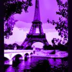 """Eiffel Tower Seine Rvr Enhncd Crpd Dk Vlt Indgo Bo"" by TheNorthernTerritory"
