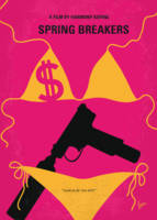 No218 My SPRING BREAKERS minimal movie poster