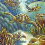 """Flying Loggerhead Turtles"" by nancytilles"